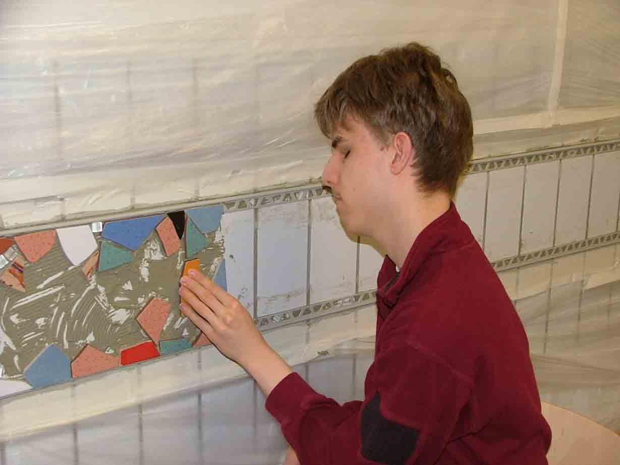 Berichte Von Der Schule Projektwoche Bericht über Die - Mosaik fliesen auf alte fliesen kleben